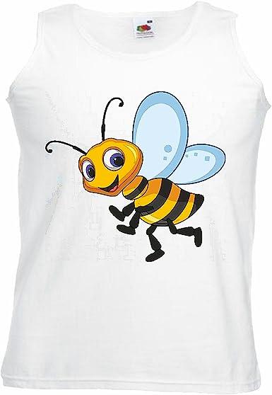 Camisa del músculo Tank Top Abeja Feliz Wasp Wasp Miel Doblar ...