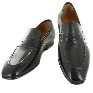 New Fiori Di Lusso Green Leather Shoes