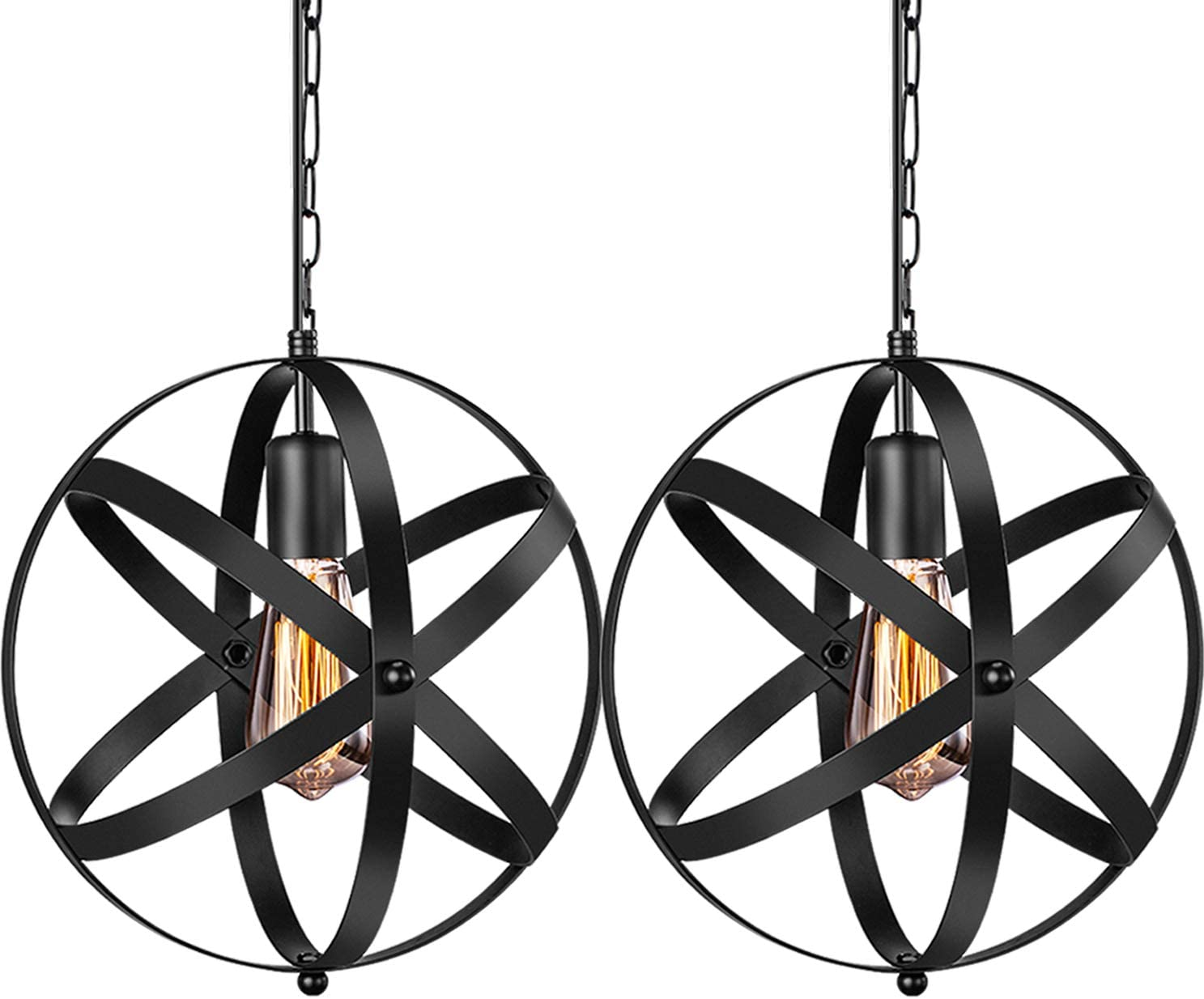 Kira Home Woodrow 15 3-Light Industrial Farmhouse Semi Flush Convertible Pendant Light with Drum Shade, Dark Wood Style Textured Black Finish