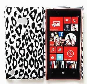CHSH cáscara duro de plástico Cover para Nokia Lumia 720 leopardo NO.10