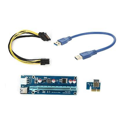 Adaptador para tarjeta extensible USB 3,0 PCI-E 1 paquete ...