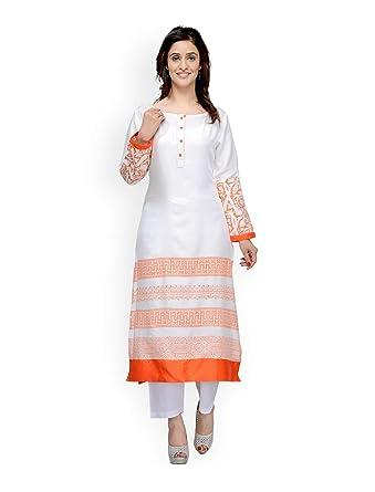 d74f5dad7c012 Amazon.com: Hiral Designer Plus Size Indian kurti for Off-White ...