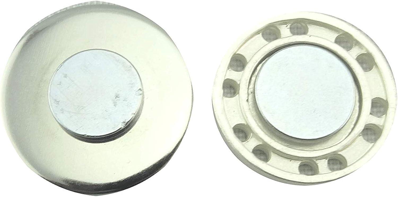HaJuNa Broche aimant/ée /à clip en acier inoxydable 20 mm fait main Beige//jaune