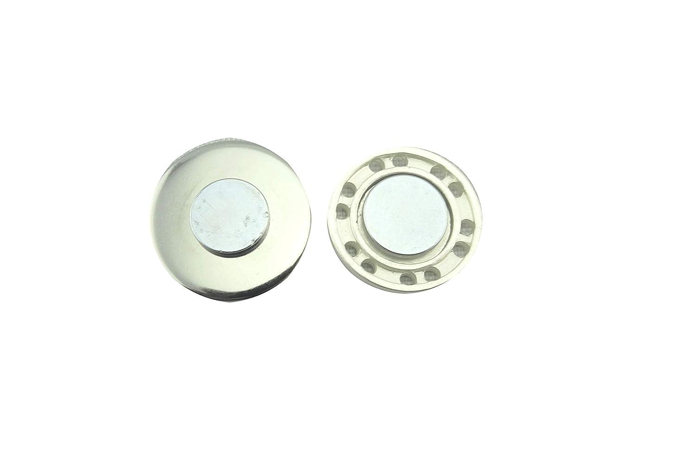 Magnetbrosche 20mm Schmuckanh/änger aus Edelstahl grau mit Glitzer Clip handgefertigt