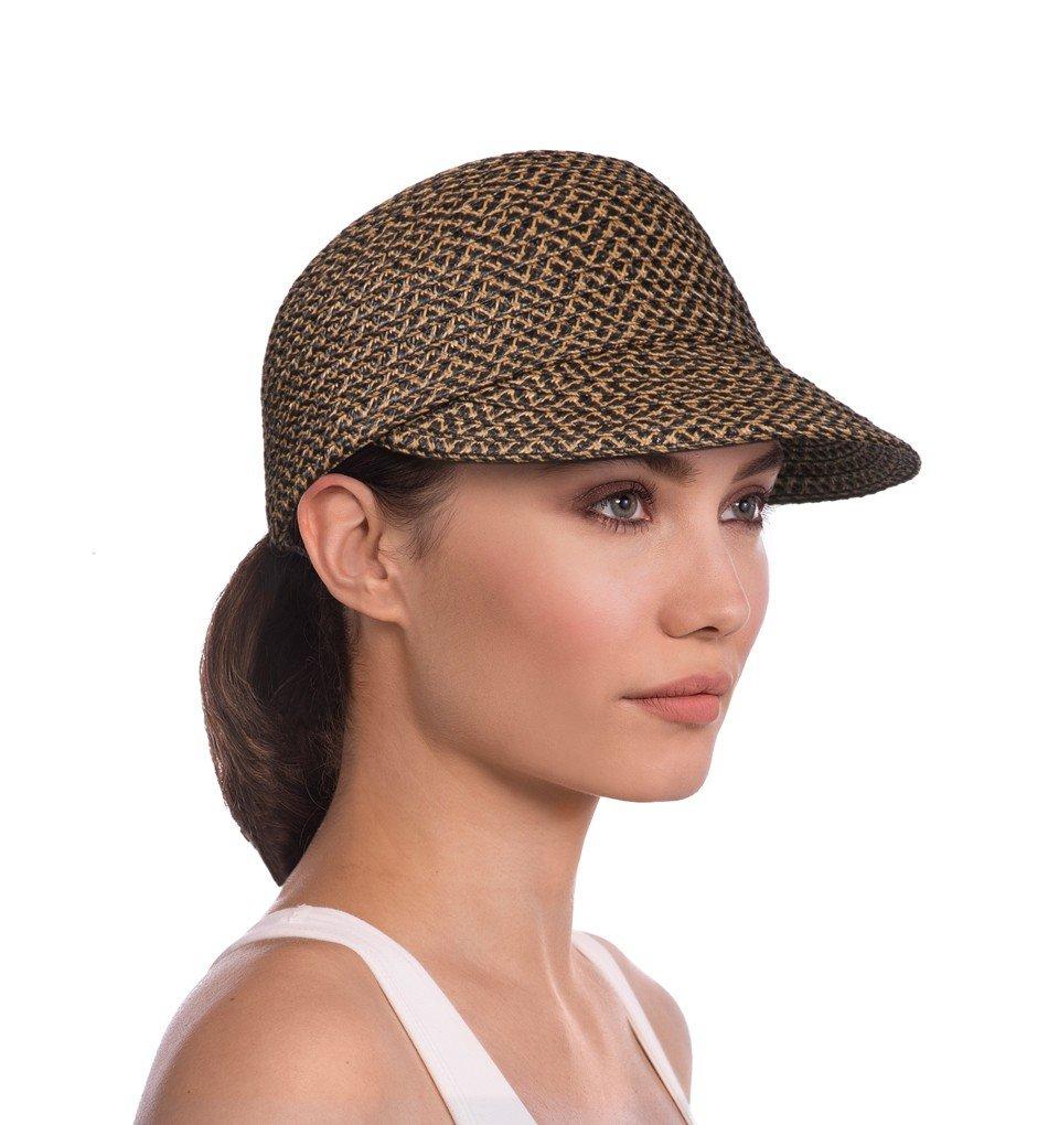 Eric Javits Luxury Fashion Designer Women's Headwear Hat - Mondo Cap (Antique, Small/Medium)