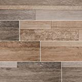 MSI Stone NSIEBEI9 X 48 Sierra Wood Look Tile with Matte Finish, 9'' x 48'', Beige