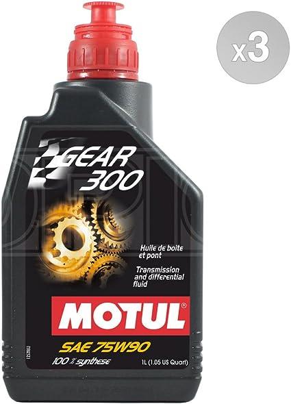 Motul Gear 300 75W-90 - Aceite para caja de cambios y diff (3 x 1 ...