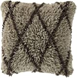 22'' Fine Diamonds French Charcoal Gray Decorative Square Throw Pillow - Polyester Filler