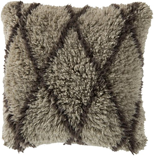 22'' Fine Diamonds French Charcoal Gray Decorative Square Throw Pillow - Down Filler by Diva At Home