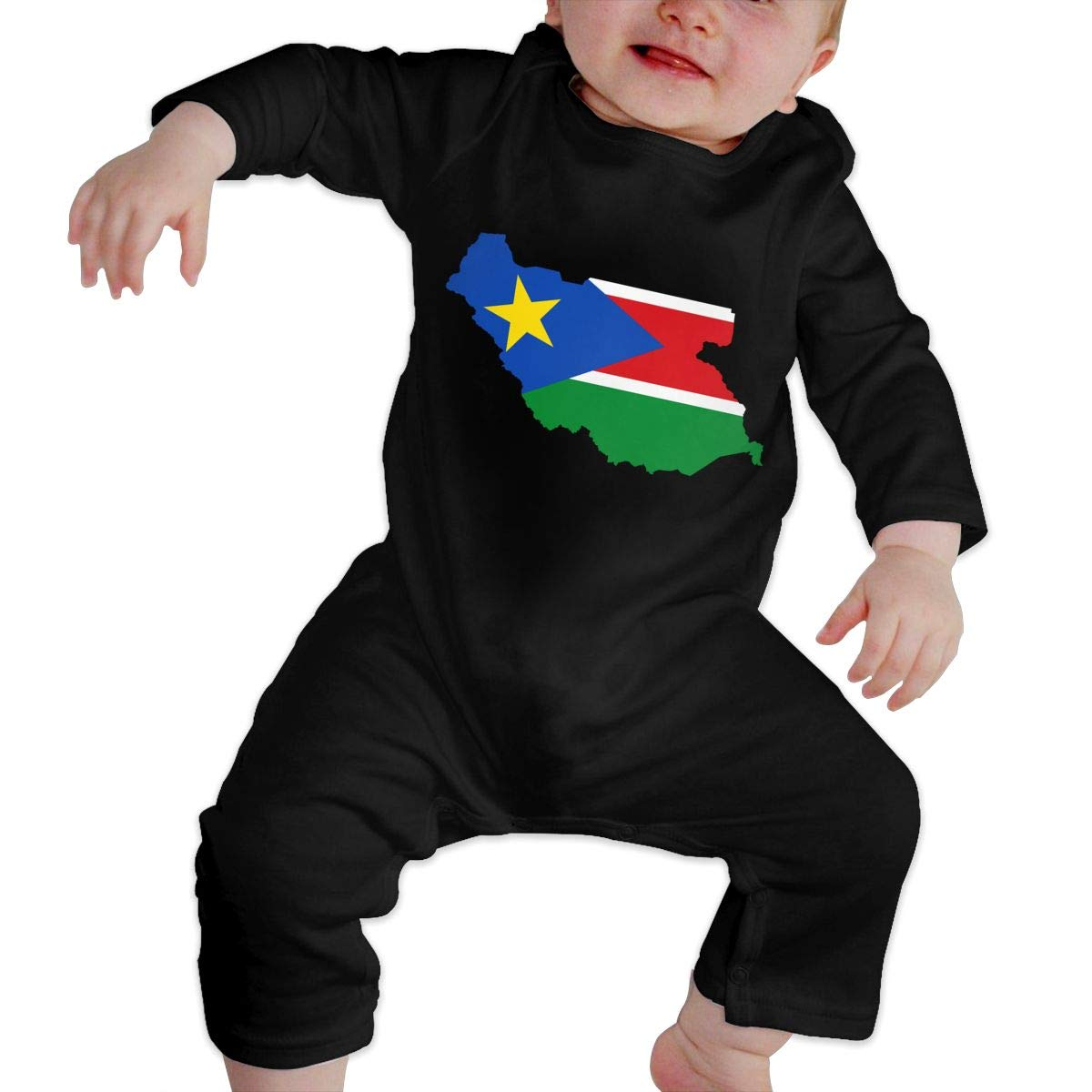 Fasenix South-Sudan Newborn Baby Bodysuit Long Sleeve Overalls Outfits Clothes Romper Jumpsuit for Baby Boy Girl