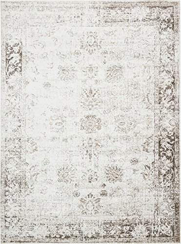 Beige 8' 11 x 12' FT Canterbury Rug Modern Traditional Vintage Inspired Overdyed Area Rugs