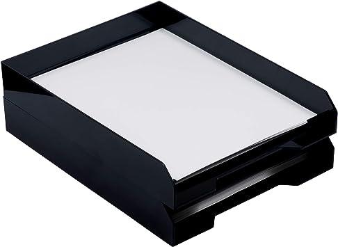 Black Basics Letter Trays 2//Pack