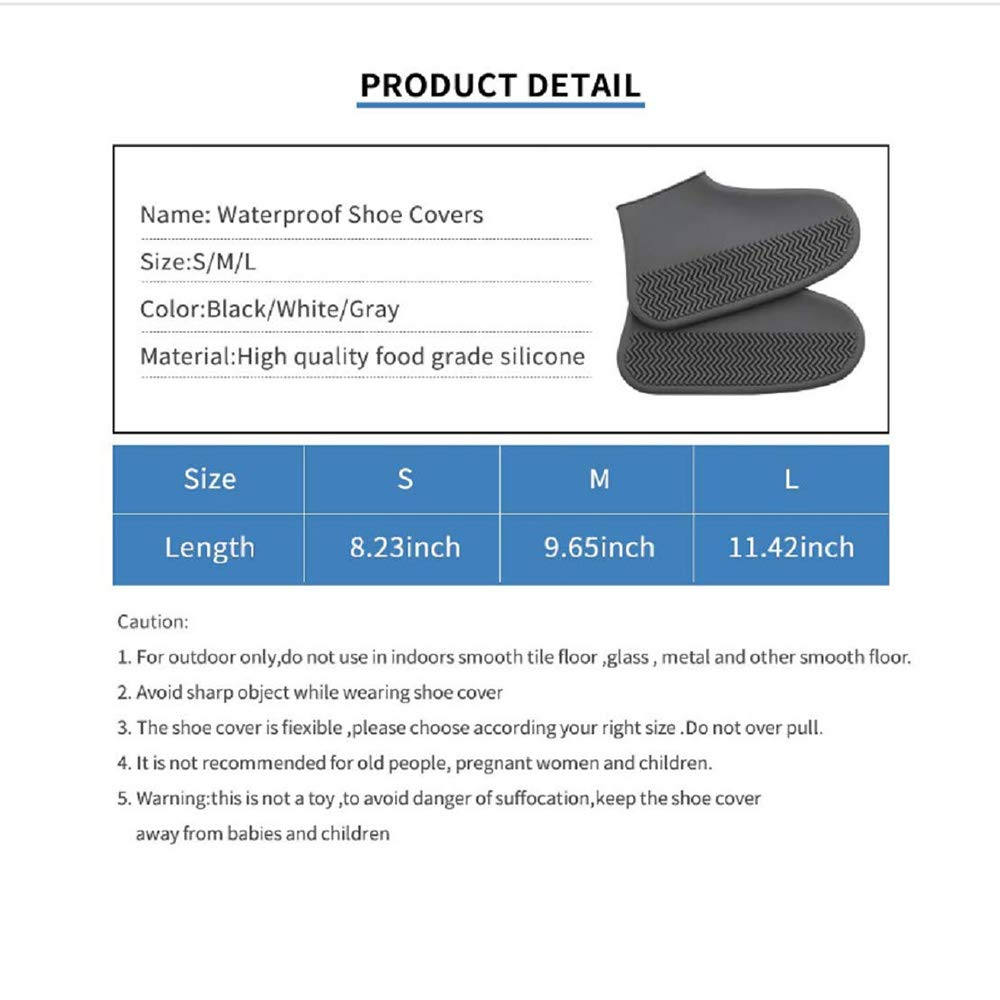 2 Pair Rain Shoes Covers,Waterproof Silicone Shoe Covers Non-slip Washable Shoe Covers Small Size for Men Women Kids