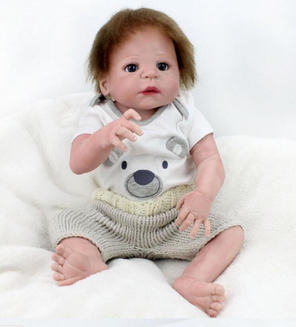 YIHANGG Reborn Baby Puppen Handgemachte Lebensechte Realistische Silikon Vinyl Baby Puppe Weiche Simulation 22 Zoll 55 Cm Augen öffnen Mädchen Lieblings Geschenk Nehmen Ein Bad