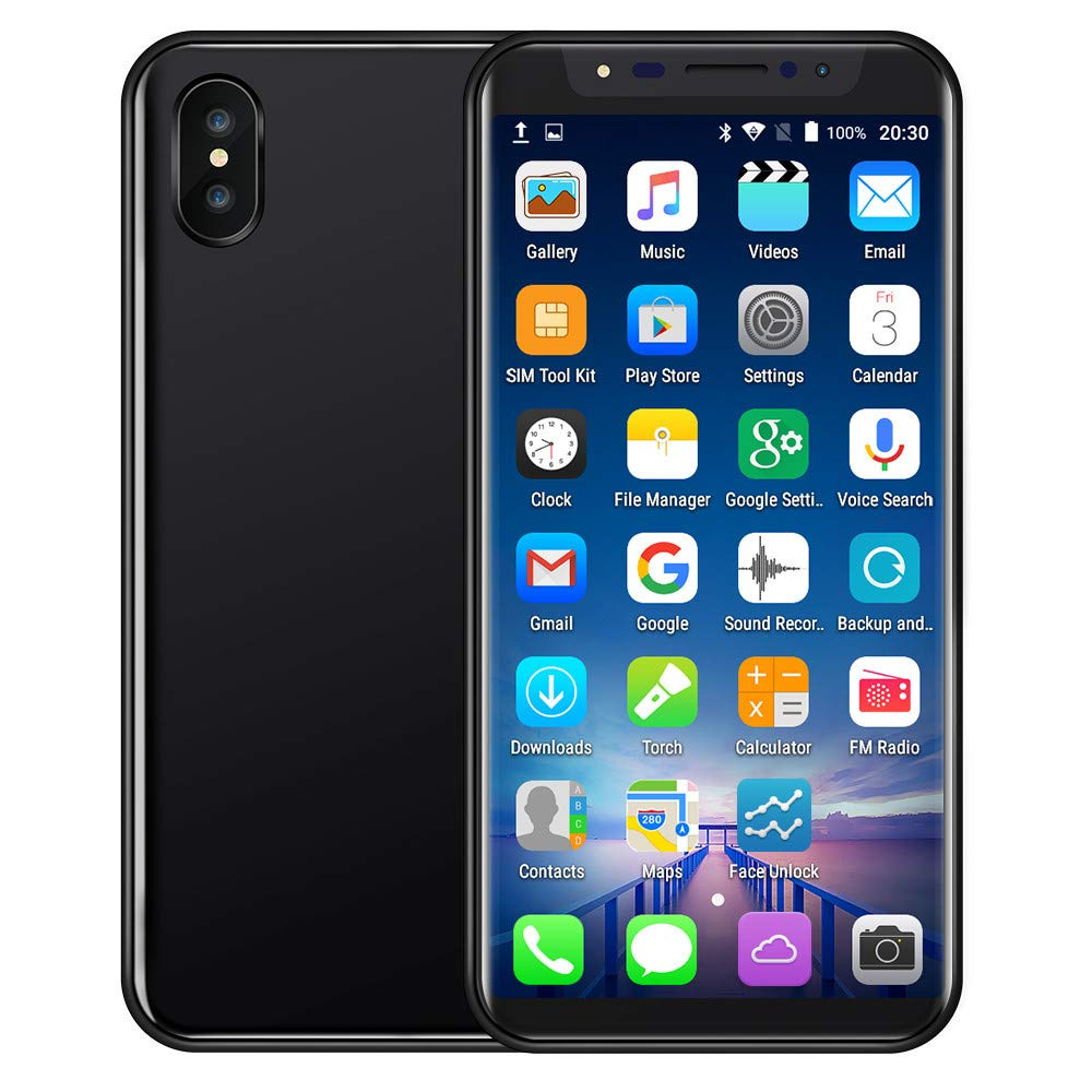 Unlocked Smartphone,2019 New 5.8 inch Ultra Android 6.0 Quad-Core 1GB+4GB+Extra 16GB Dual SIM Mobile Phone Cell Phone (Black)
