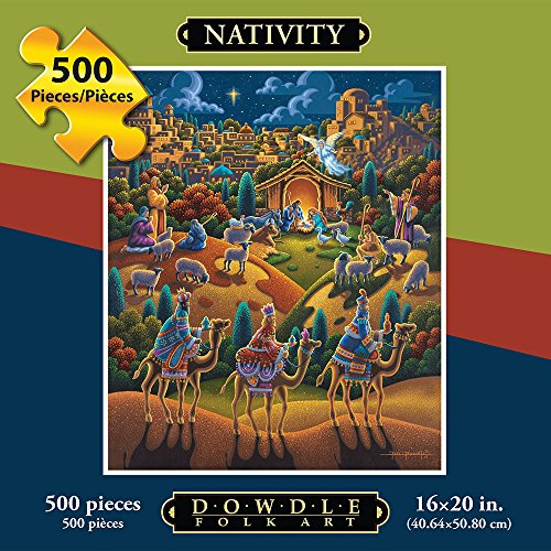 Jigsaw Puzzle - Nativity 500 Pc By Dowdle Folk Art (The Spirit Of Halloween Store Locations)