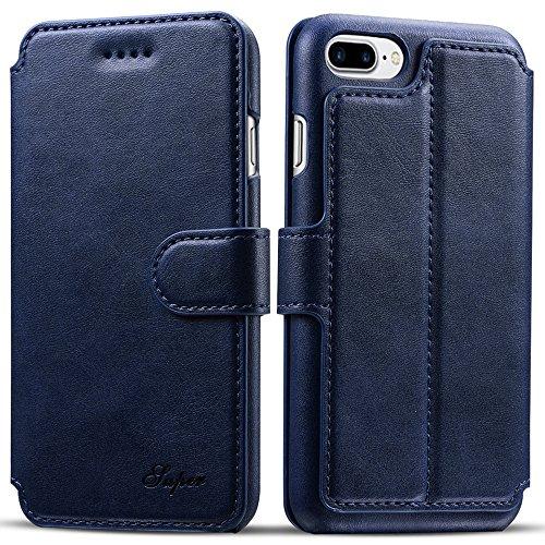 iPhone 7 Plus Case, Pasonomi iPhone 7 Plus Leather Wallet Case -...