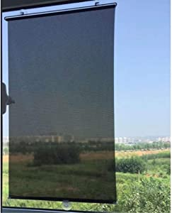 Wakauto 1PCS Blackout Blind Shade with Suction Cups Temporary Portable Window Cover Curtain 49 x 20 inches