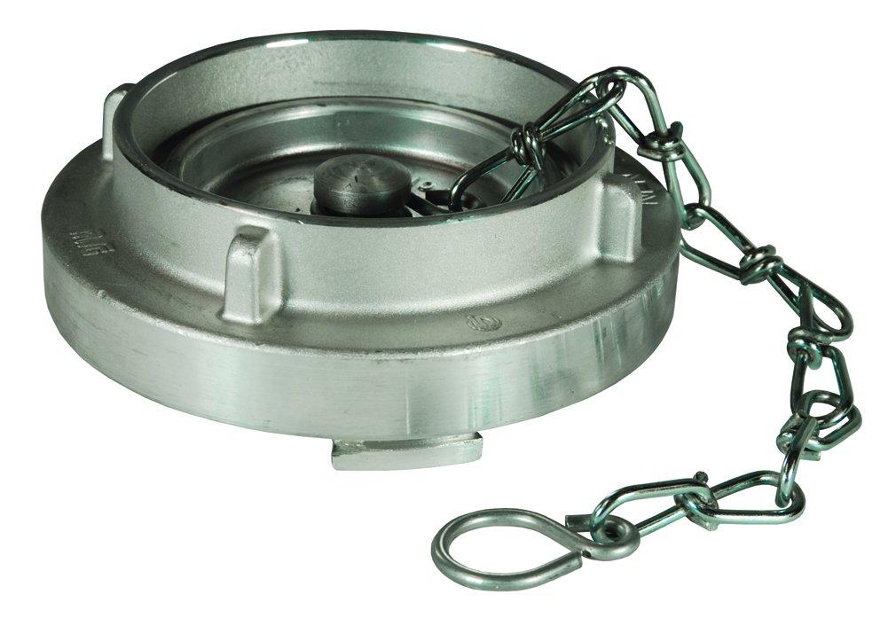 Dixon SC600-NL 6'' AL STORZ CAP WITH CABLE, 6'' ID, Aluminum