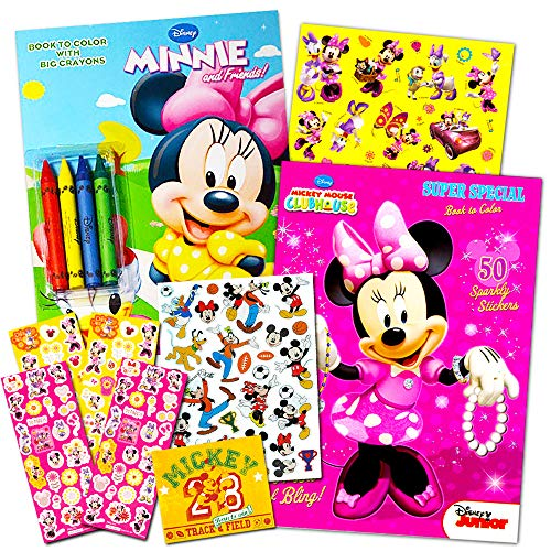 Disney Minnie Mouse Coloring Book Set with Stickers  2 Deluxe Coloring Books and over 150 Stickers