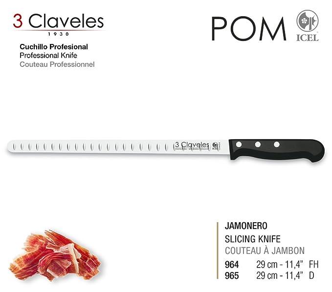 Compra 3 Claveles - Set Cuchillo Jamonero Alveolado Uniblock ...