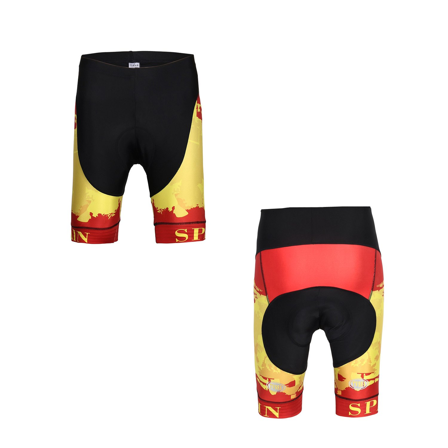 Cycling Jersey Sets Men's Bib Shorts Short-Sleeved Summer Cycling Clothing Team Suits B07427DD47 XXXXXX-Large|Spain & No Bib pants Spain & No Bib pants XXXXXX-Large