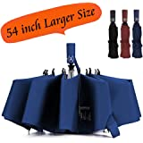 Umbrella Windproof Travel Umbrella Compact Folding Reverse Umbrella,LANBRELLA