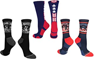 product image for MadSportsStuff USA Flag Fighting Wrestlers Athletic Crew Socks