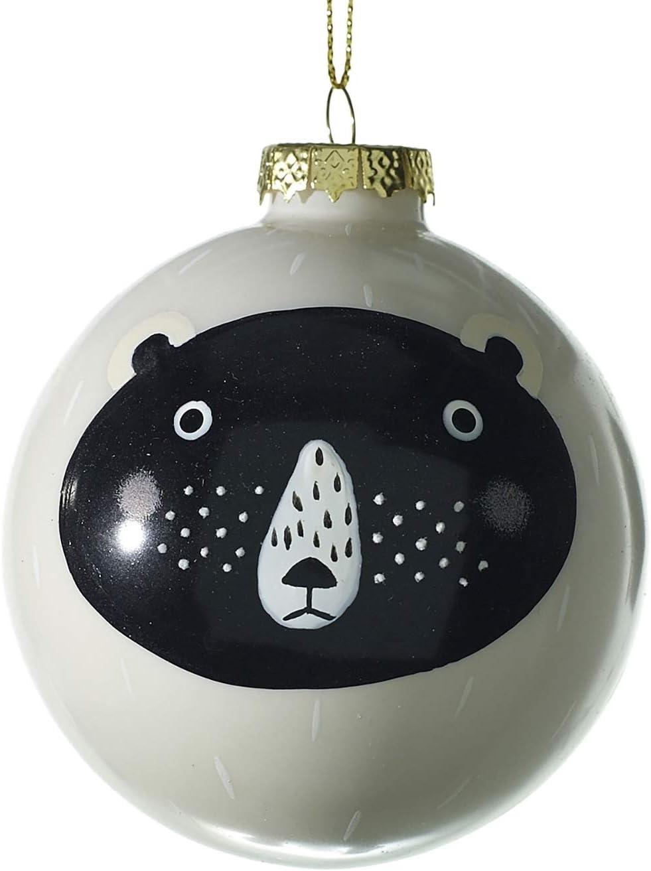 クマのクリスマスオーナメント ガラスボールオーナメント 6個セット 素朴なウッドランドツリー用
