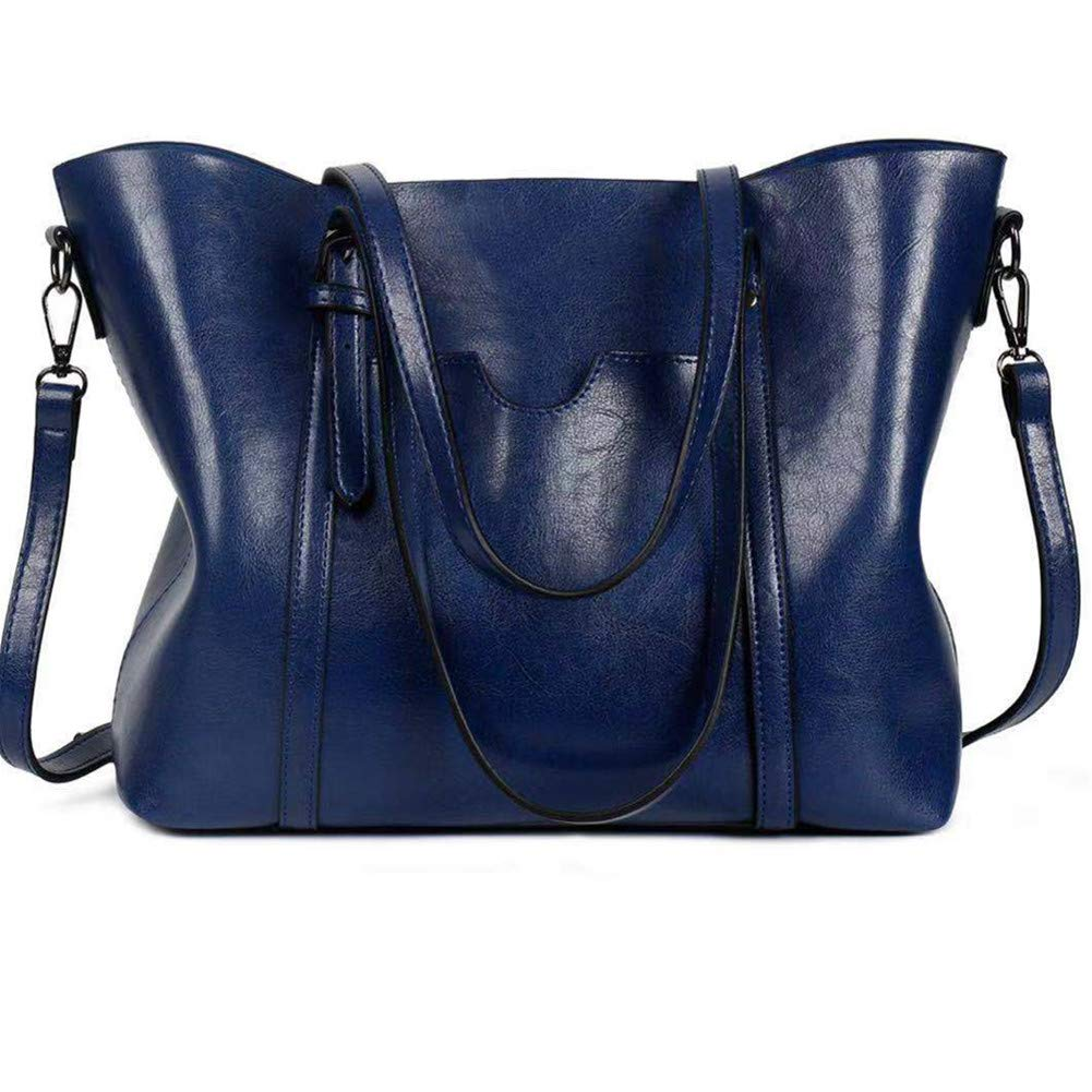 bluee Women Lightweight Leather Backpack Black Purse Versatile Classic Fashion PU Leather