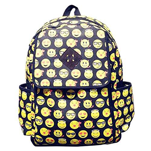 Mossimo Black Belt (Hanshu Graffiti Emoji Backpack Smiley Shoulder Day Pack for Kids, Style)