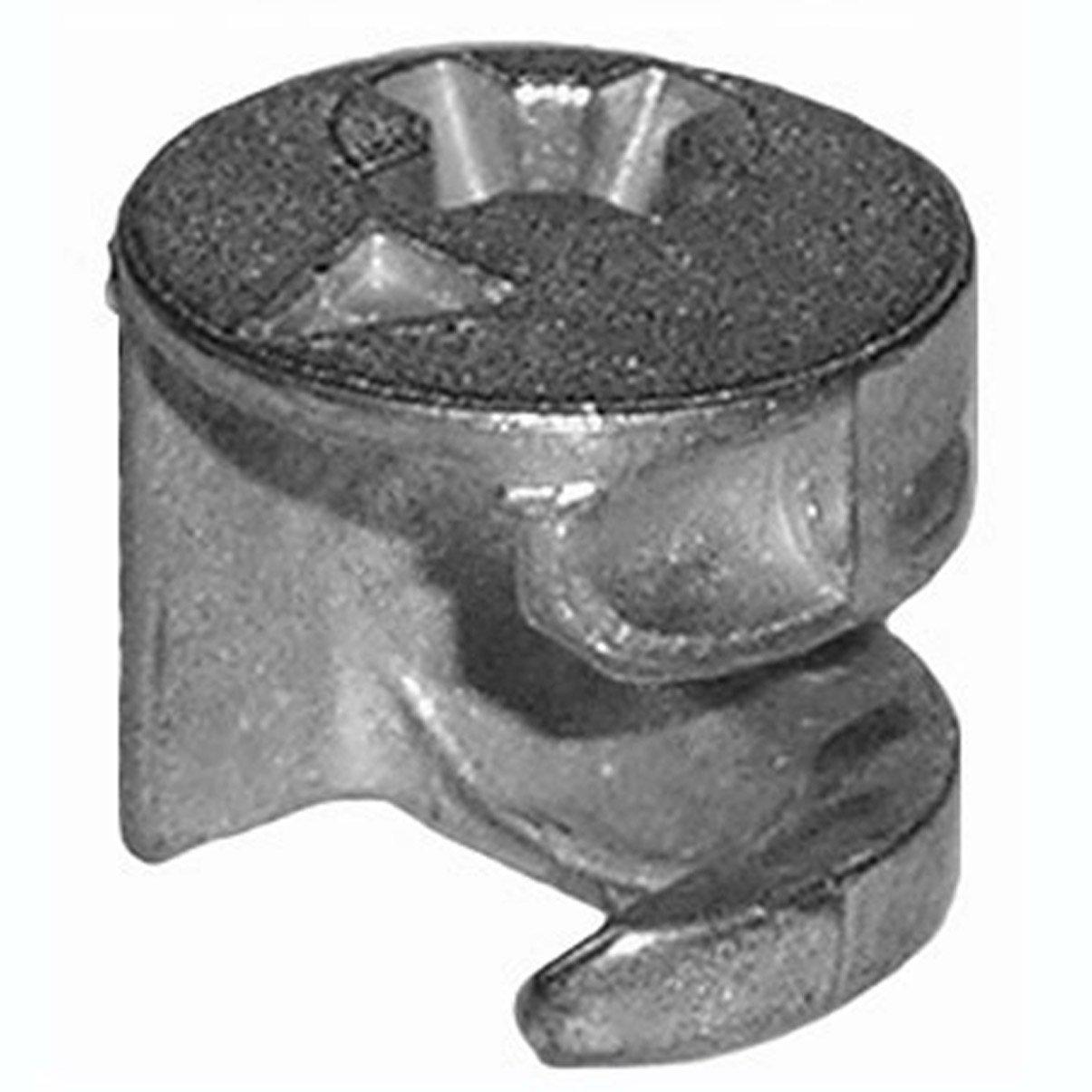 12mm x 10.5mm Cam Lock Nut Furniture Connector Fastener (10 Pack)