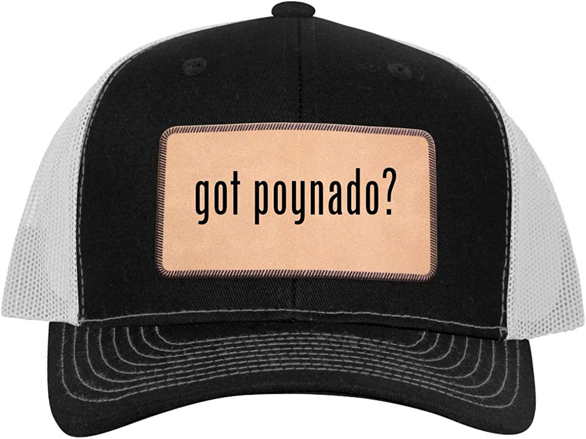 Leather Light Brown Patch Engraved Trucker Hat One Legging it Around got Poynado?