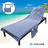 YOULERBU Beach Chair Cover, Patio Chaise Lounge Chair Covers for Pool Outdoor Lounger Chairs and Recliners Towel