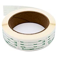 Food Labels Dissolvable by Food Safe - Leaves No Adhesive Residue Dissolves in Water in 30 Seconds Perfect for Reusable Containers - 500 Labels Per Roll