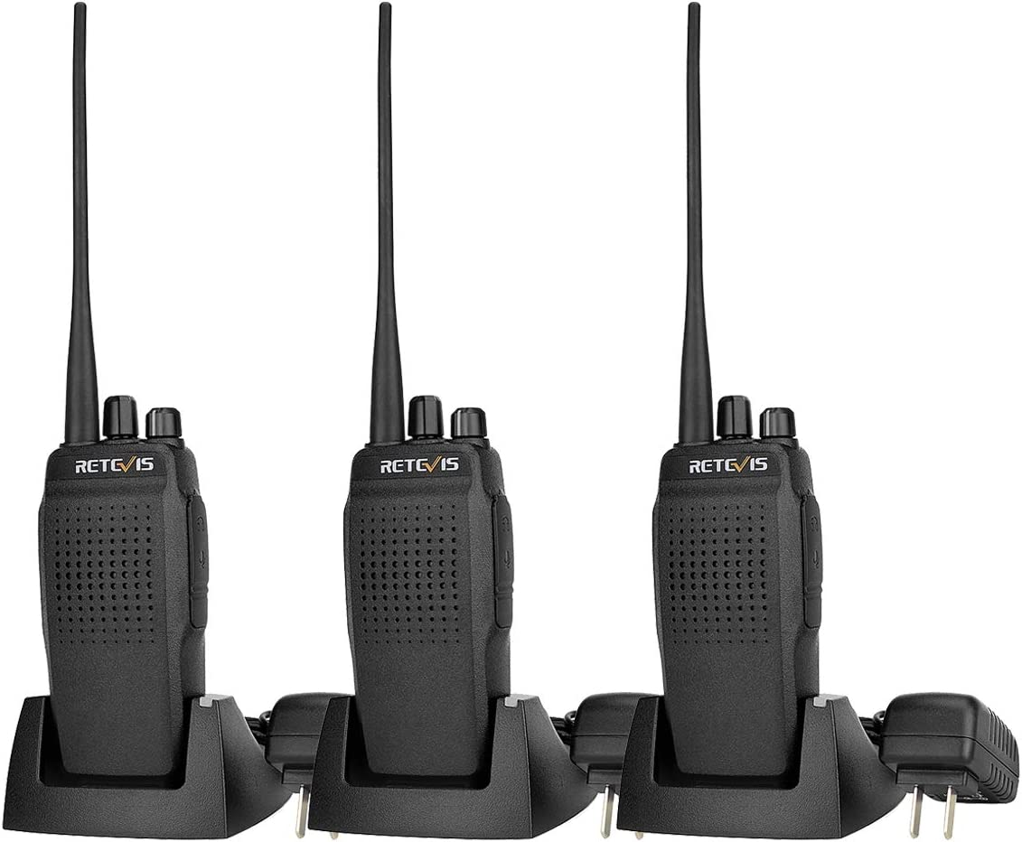 Retevis RT26 2 Way Radios Long Range UHF High Power Emergency Alarm Encryption Long Standby Rechargeable Walkie Talkie 3 Pack