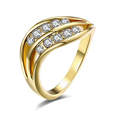 Funnyrunstore Kzcr502 Women Fashion Pretty Engagement Rings Best