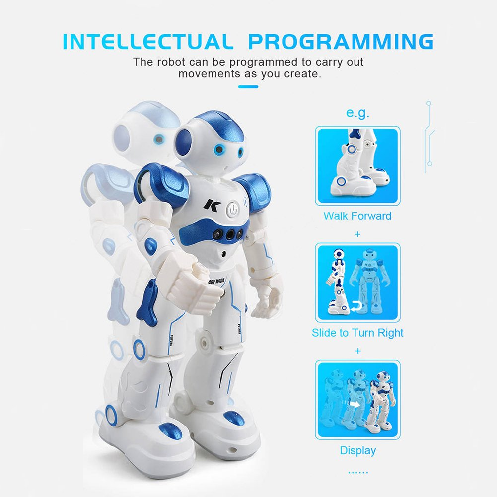 BTG R2 Cady-Wida Cady-WINI Intelligent Gesture Sensor Control RC Robot for Entertainment - Walks in All Direction, Slides, Turns Around, Dances - Toy for Boys/Girls RED by BTG (Image #7)