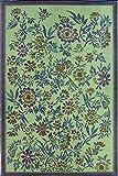 Mad Mats Wildflowers Indoor/Outdoor Floor Mat, 6 by 9-Feet, Eggplant