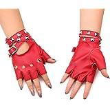 9b3b786e86a003 Homedecoam Damen Punk Rock Fingerlose Gothic PU Leder Handschuhe für  Cosplay Kostüm Fahrrad Sports Handschuhe mit
