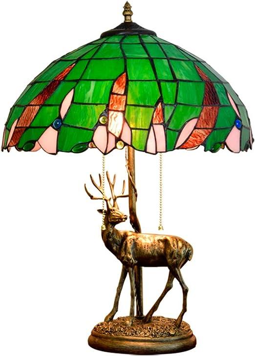 Jay Lámpara de Mesa Estilo Tiffany Verde de 16 Pulgadas, Sala de ...