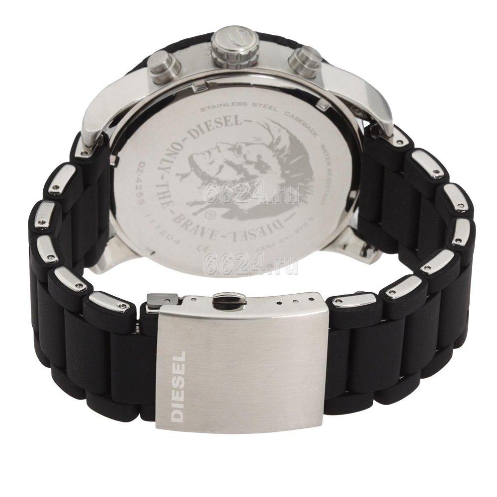 Diesel DZ4255 Men's Advanced Black Dial Rubber & Stainless Steel Bracelet  Chronograph Watch: Diesel: Amazon.co.uk: Watches