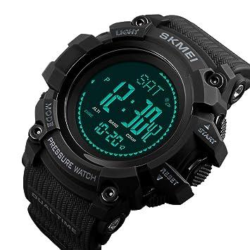 TONGTONG Hombres Deportes Relojes Cuenta Regresiva brújula Reloj Alarma Chrono Relojes de Pulsera Digital Impermeable Reloj de los Hombres: Amazon.es: Hogar