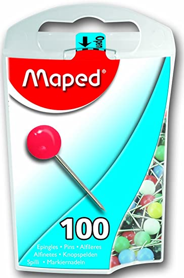 Amazoncom  Maped Map Pins in Dispenser Case Assorted Colors