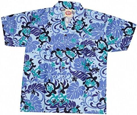 Camisa hawaiana tortuga niño Morado morado: Amazon.es: Ropa y accesorios