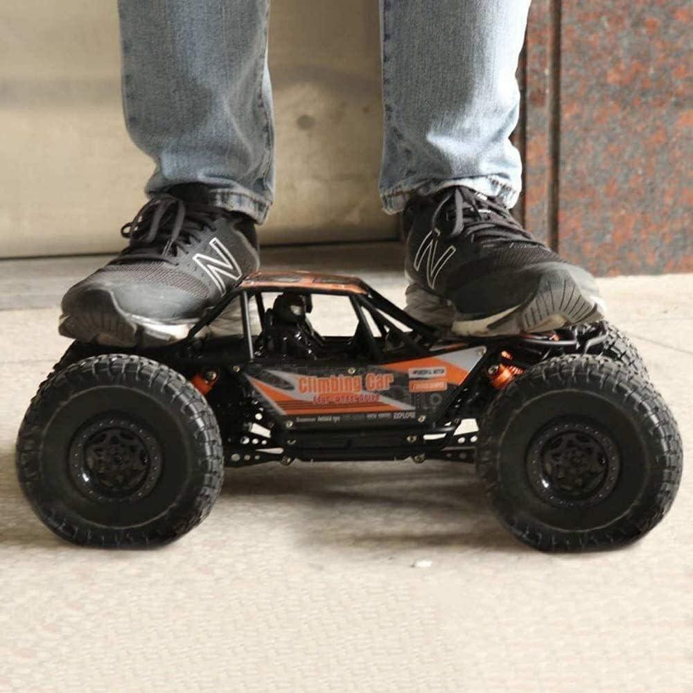 Suspensión Independiente 4WD Vehículo de todo terreno de 2,4 Ghz Niños remoto de vehículos de juguete de control del coche 1:10 Giant Monster Truck Rock Crawler Off Road con doble Motors, adultos mejo