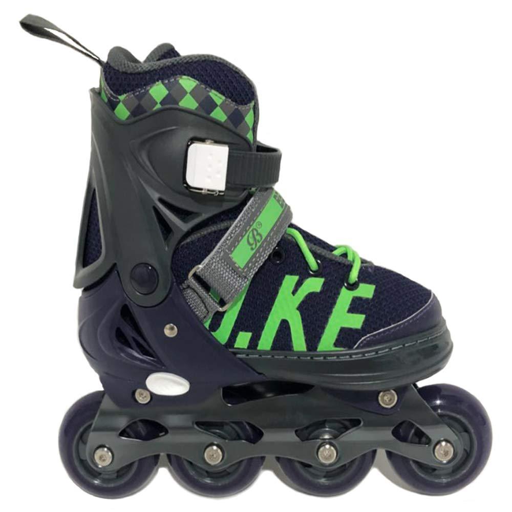 MammyGol Adjustable Inline Skates for Kids Girls Boys with Light up Wheels Size2-4