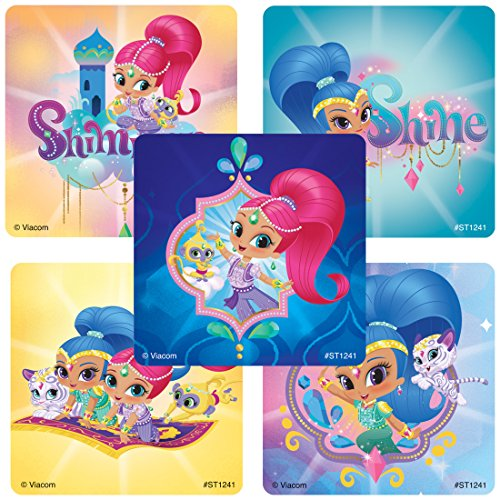 Shimmer & Shine Stickers - Prizes 100 Per Pack ()