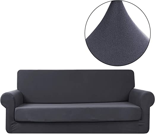 Polyester Stretch Sofa Couch Bench Seat Cushion Slipcover Cover Protector