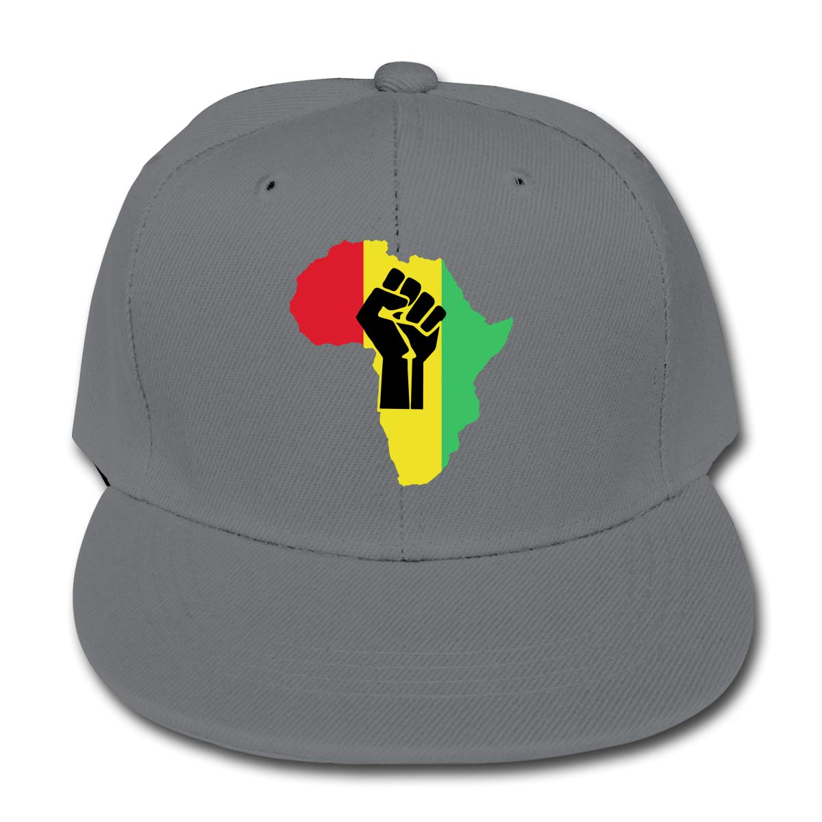 WoodWorths African Roots Black Power Piece Adjustable Baseball Cap Hip Hop Hat Boy Girls Kids Sports